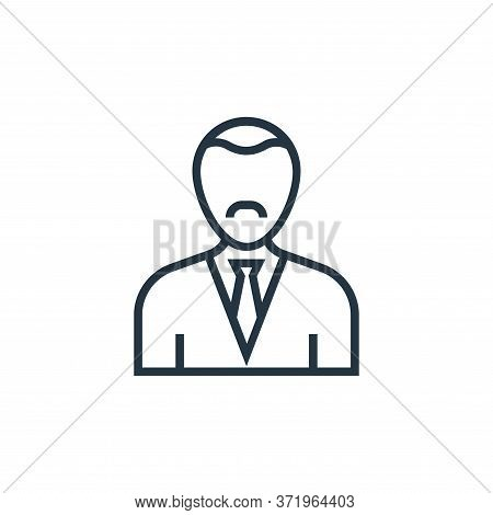 manager icon isolated on white background from  collection. manager icon trendy and modern manager s