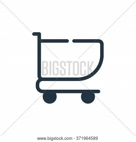 cart icon isolated on white background from  collection. cart icon trendy and modern cart symbol for