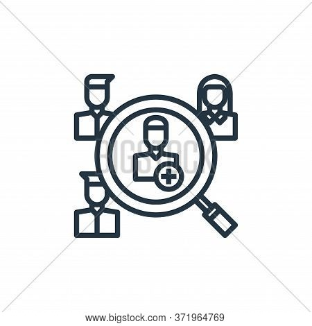 human resources icon isolated on white background from  collection. human resources icon trendy and