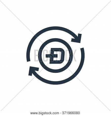 dash icon isolated on white background from  collection. dash icon trendy and modern dash symbol for