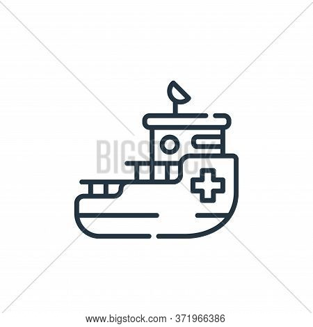 rescue boat icon isolated on white background from  collection. rescue boat icon trendy and modern r