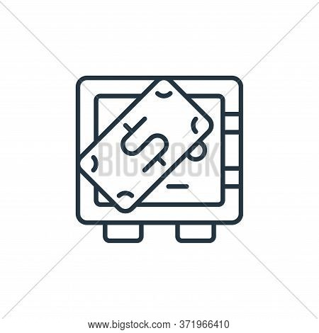 safe deposit icon isolated on white background from  collection. safe deposit icon trendy and modern