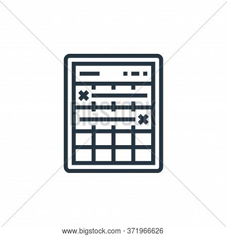 timeline icon isolated on white background from  collection. timeline icon trendy and modern timelin
