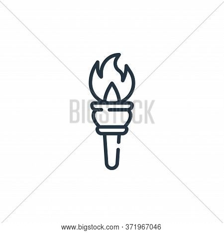 torch icon isolated on white background from  collection. torch icon trendy and modern torch symbol