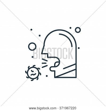 cough icon isolated on white background from  collection. cough icon trendy and modern cough symbol