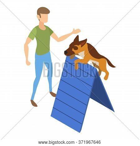 Dog Obstacle Training Icon. Isometric Of Dog Obstacle Training Vector Icon For Web Design Isolated O