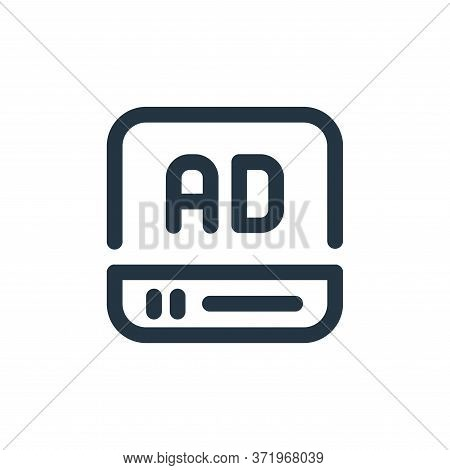 video ad icon isolated on white background from  collection. video ad icon trendy and modern video a