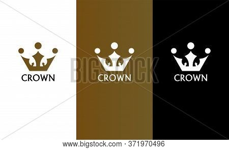 Crown Logo Template. Crown Flat Icon. Crown King, Prince, Queen Or Princess