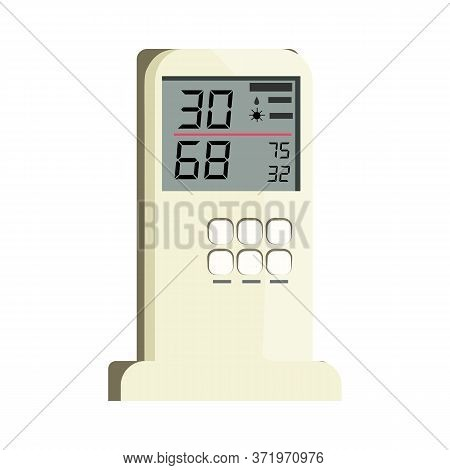 Air Conditioner Remote Control . Temperature, Humidity, Climate Control. Thermometer Concept. Can Be
