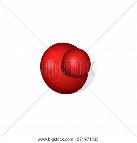 Pushpin Head Illustration. Red, Needle, Steel. Office Stationery Concept. Illustration Can Be Used F