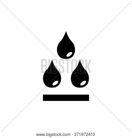 Water Drops, Rain Droplet, Raindrop Blob. Flat Vector Icon Illustration. Simple Black Symbol On Whit