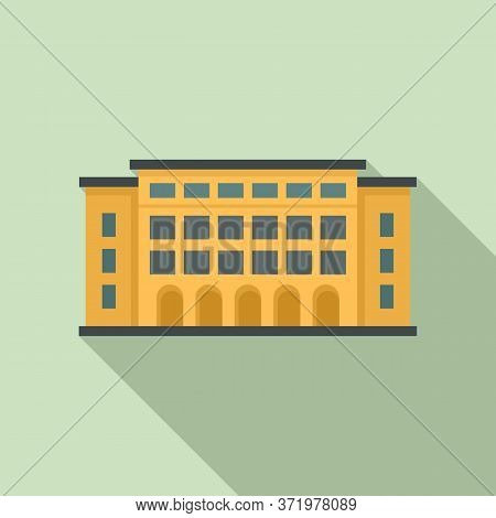 Library Building Icon. Flat Illustration Of Library Building Vector Icon For Web Design