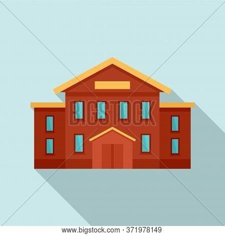 City University Icon. Flat Illustration Of City University Vector Icon For Web Design