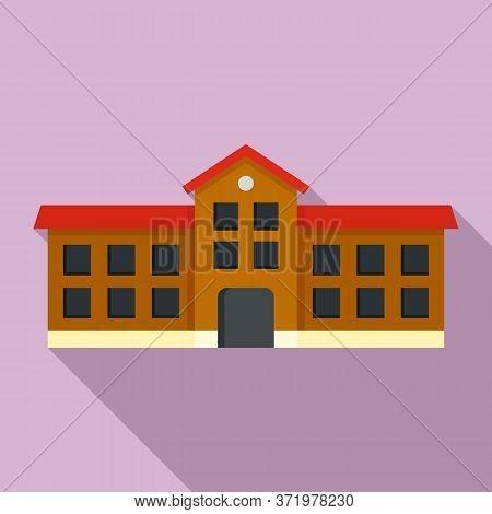 Student University Icon. Flat Illustration Of Student University Vector Icon For Web Design
