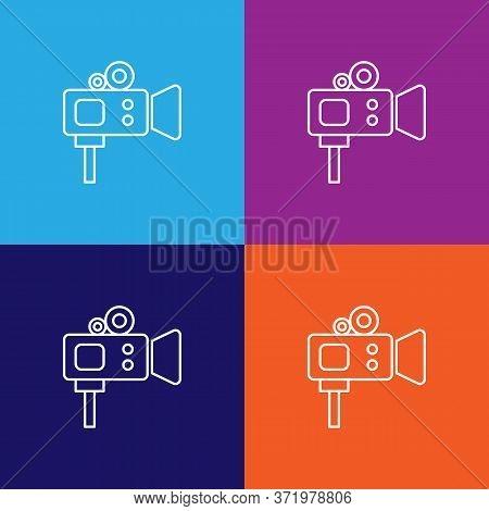Video Camera Theatre Icon. Element Of Theatre Illustration. Premium Quality Graphic Design Icon. Sig