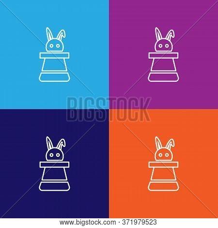 Hat Rabbit Theatre Icon. Element Of Theatre Illustration. Premium Quality Graphic Design Icon. Signs