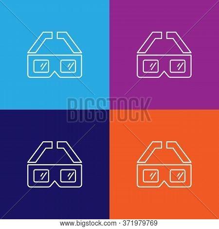 3d Glasses Theatre Icon. Element Of Theatre Illustration. Premium Quality Graphic Design Icon. Signs