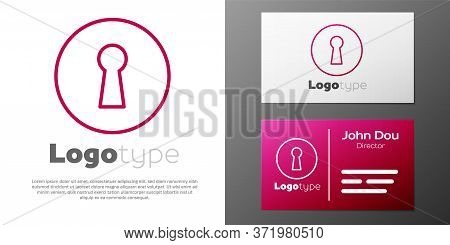 Logotype Line Keyhole Icon Isolated On White Background. Key Of Success Solution. Keyhole Express Th