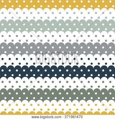 Seamless Wave Pattern And Polka Dot Vector Illustration For Gift Packaging, Backgrounds, Fabric Orna