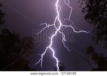 Lightning up close...