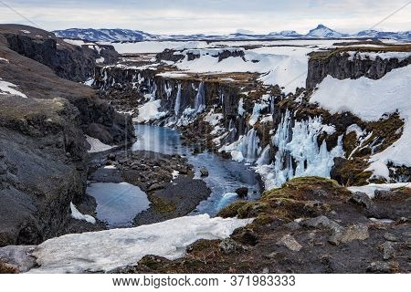 The Sigolduglijufur Canyon In The Central Highlands Of Iceland
