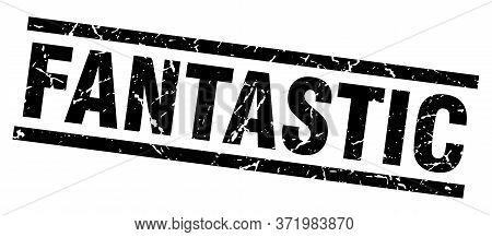 Square Grunge Black Fantastic Stamp On White Background