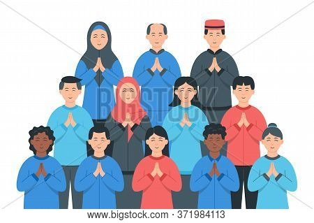 Diverse Groups Of People. Diverse Multiracial And Multicultural Group Of People. Society Or Populati