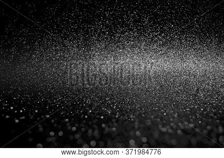 Soft Image Abstract Bokeh Black And White Colors With Light Background.monotone Night Light Elegance