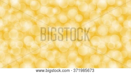 Yellow Gold Bokeh For Background Blurred, Gold Glitter Glow For Luxury Backdrop Decoration, Golden L