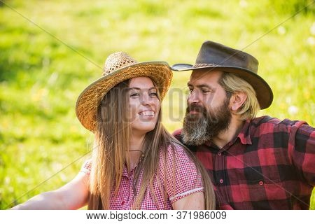 Romantic Attraction. Sexy Woman And Bearded Man Enjoy Romantic Relationship. Romantic Appeal. Sensua