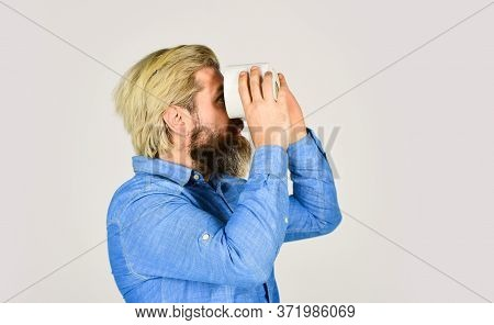 Guy With Funny Binoculars. Strategic Toilet Paper Stock. Use Calculator To Prevent Toilet Paper Hoar