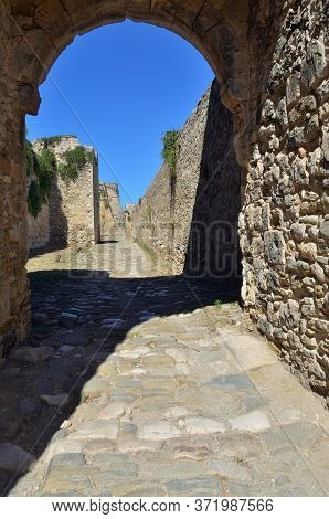 Messenia, Greece  - 3 Oct, 2013: Inside The Methoni Venetian Fortress In The Peloponnese,