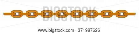 Copper Chain Isolated On White, Copper Chain Steel, Illustration Chains