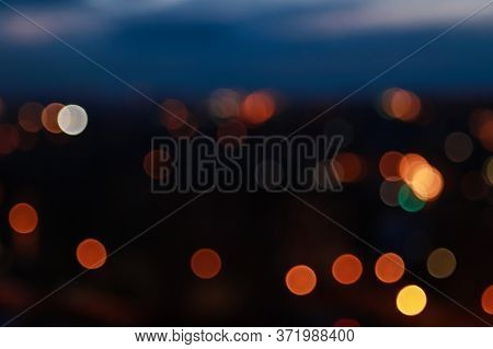 Unfocused Blured Green And White Background Bokeh Of City. Non Focused. Bokeh Abstact Texture. Defoc