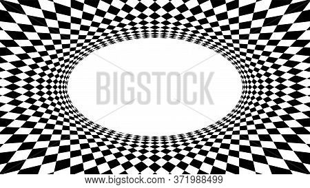 Geometric Art Abstract Black White For Background, Art Line Black White Spiral Optical For Hypnotic