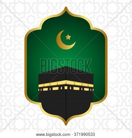 Islamic Pilgrimage Background With Kaaba For Hajj Mabroor In Mecca Saudi Arabia. Hajj Mabrour Backgr