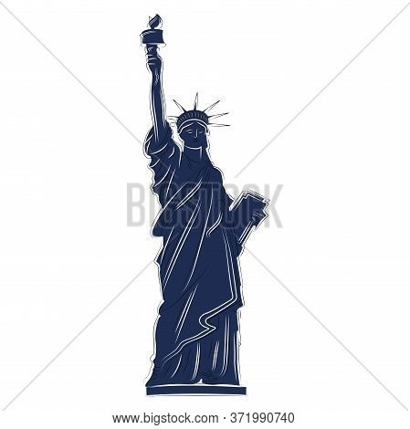 Statue Of Liberty Icon. Silhouette Of Statue Of Liberty - Vector
