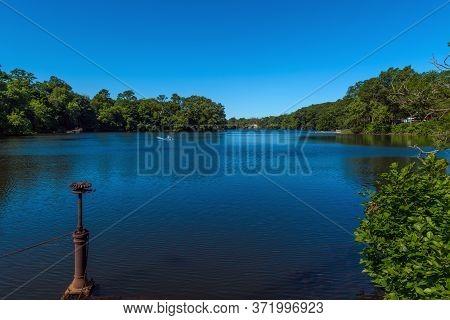 Scenic Lake Lefferts, A Man Made Lake In Matawn New Jersey.