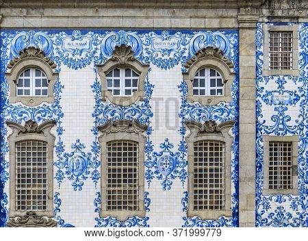 Igreja Do Carmo Church Of Carmelites Built In 18th Century With Ornate Tiled Side Facade Decorated W
