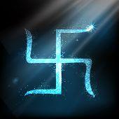 Swastik design for Diwali festival. EPS 10. poster