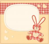 Card with the hare for baby shower. Vector illustration. poster