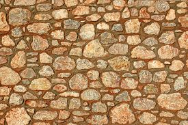Close Up Detail Of A Stone Wall