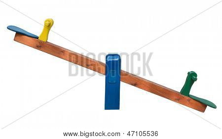 Seesaw isolated on white background