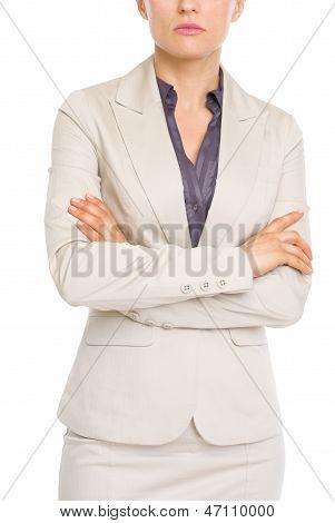 Closeup On Serious Business Woman