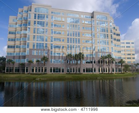 Office Building On Lake