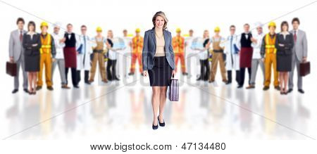 Business people team. Isolated on white background.