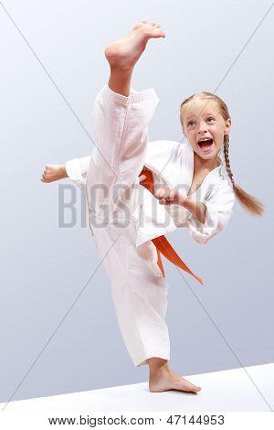 Professional karate girl