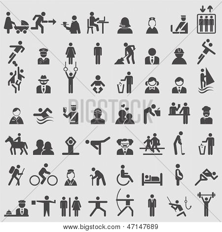 People icons set. Vector