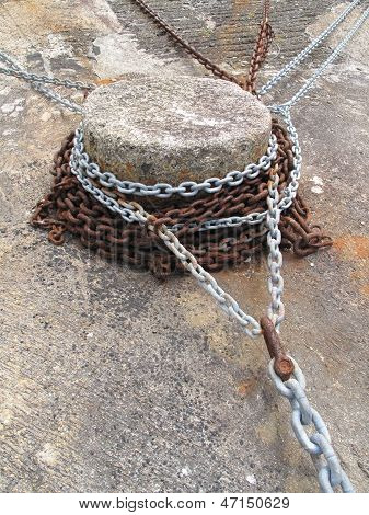 Harbour Capstan With Chains