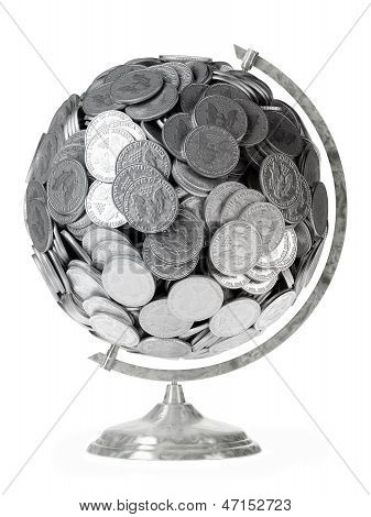 gift for businessman Globe of coins